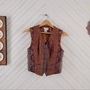 Vtg Tapestry Vest